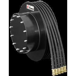 Demac enrouleur A5 - 5 tuyaux dont 1 tuyau double et un tuyau triple