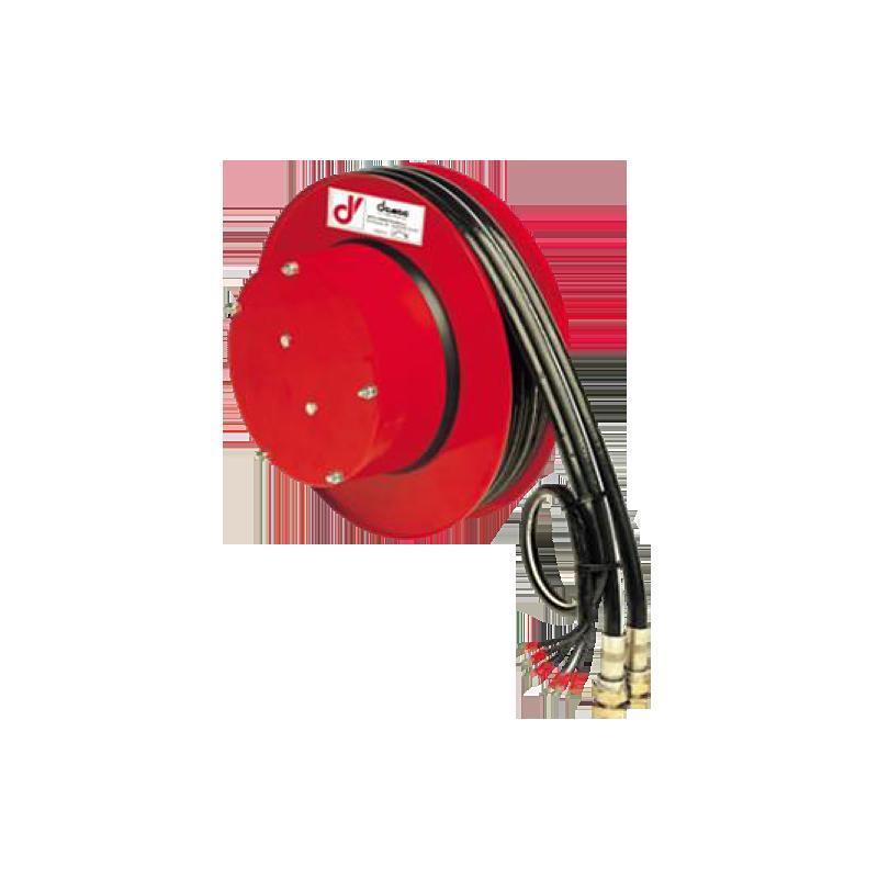 Demac AG/E enrouleur hydraulique avec câble électrique pour 2 tuyaux et un câble