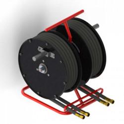 Demac RT2 - Enrouleurs manuels 2 tuyaux X2 pour véhicules de secours