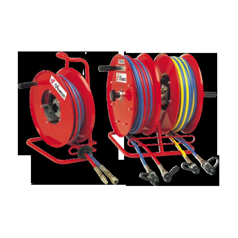 Demac RT1 et RT2 - Enrouleurs manuels 2 tuyaux pour véhicules de secours