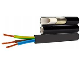 Tuyaux et câbles électrique pour enrouleurs Demac TU2+E 2 tuyaux et un câble électrique
