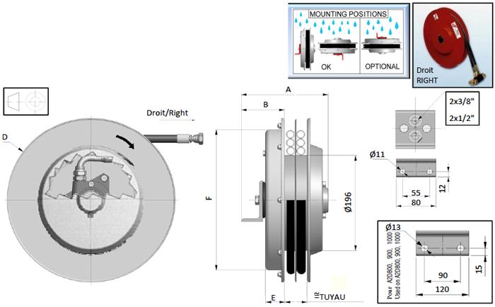 Demac A2 enrouleur hydraulique schéma technique
