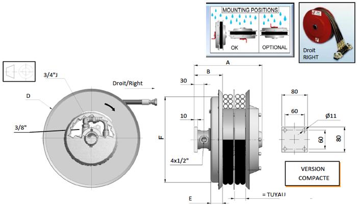 Demac A4.12 enrouleur hydraulique schéma technique