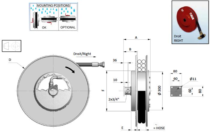 Demac AG19 enrouleurs hydraulique schéma technique