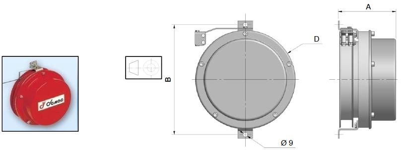 Demac LR195 enrouleur cable capteurs longueur angle inclinaison schéma technique