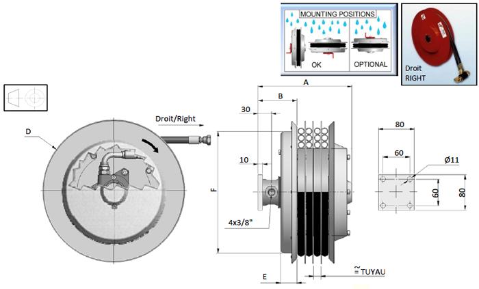 Demac S4 enrouleur hydraulique schéma technique